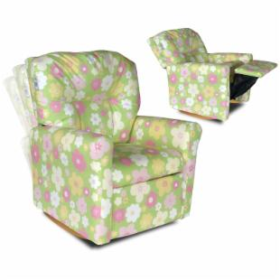 Contemporary Ellies Garden Child Rocker Recliner Chair