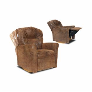 Contemporary Brown Bomber Child Rocker Recliner