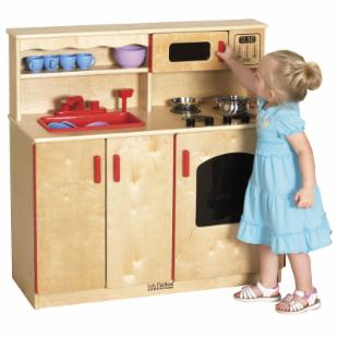 ECR4KIDS 4-in-1 Play Kitchen