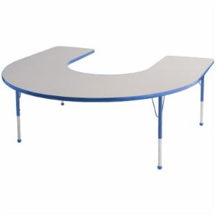 ECR4KIDS Horseshoe Adjustable Activity Table