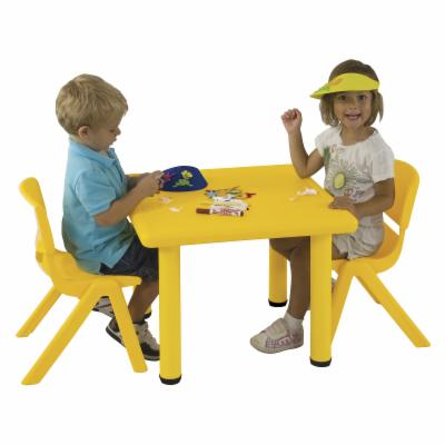  Early Childhood Resources Resin Square Adjustable Activity Table