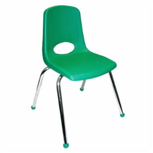 ECR4KIDS 12 Inch Stackable Chair with Chrome Legs
