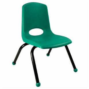 ECR4KIDS 14 Inch Stackable Chair with Black Painted Legs