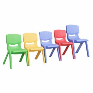 ECR4KIDS Plastic Stackable Chair - Set of 3