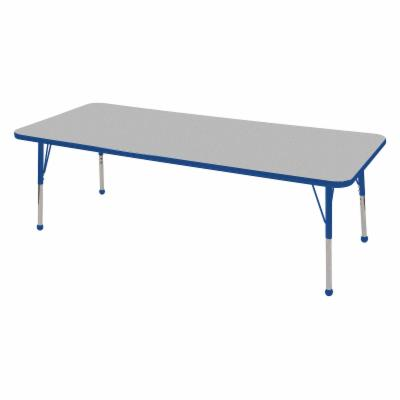  ECR4KIDS Gray Rectangle Adjustable Activity Table   30L x 72W in.