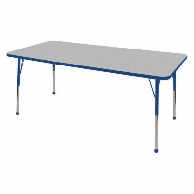  ECR4KIDS Gray Rectangle Adjustable Activity Table   36L x 72W in.