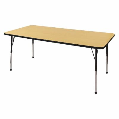  ECR4KIDS Maple Rectangle Adjustable Activity Table   36L x 72W in.