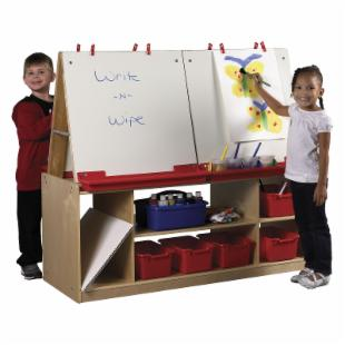 ECR4KIDS 4 Station Art Easel with Storage
