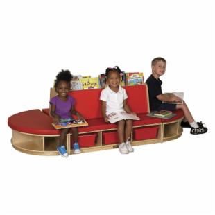 ECR4KIDS Reading Sectional - 4 Piece