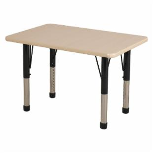 ECR4KIDS Maple Rectangle Activity Table with Maple Edge - Chunky Legs - 24L x 36W in.