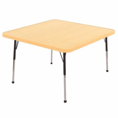 ECR4KIDS Maple Square Adjustable Activity Table with Maple Edge   Standard Legs   30 in.