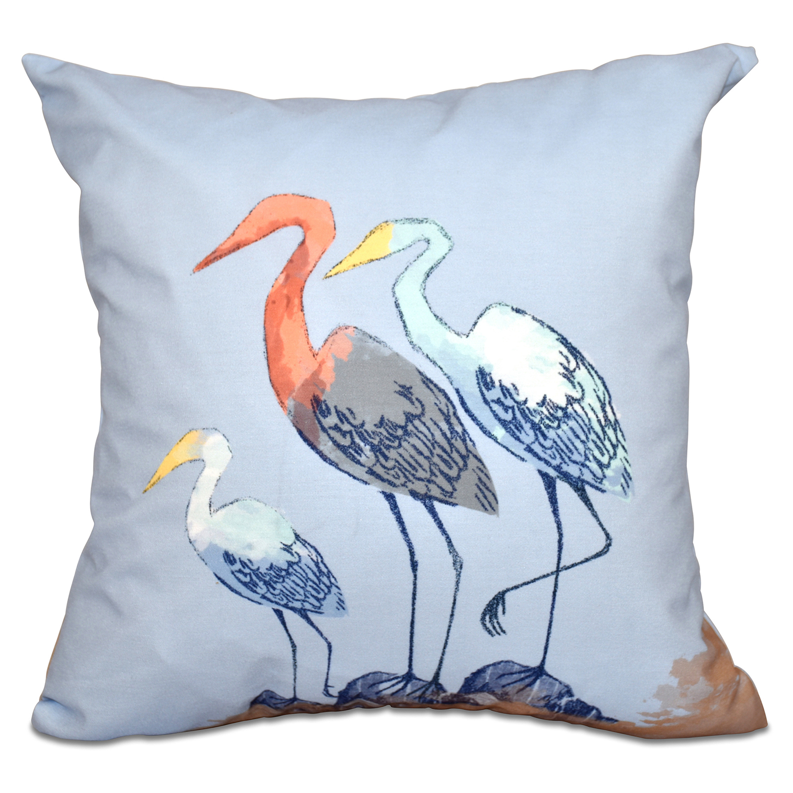 Inexpensive Beach Throw Pillows : E by Design Beach Vacation Sunbathers Decorative Pillow - Decorative Pillows at Hayneedle