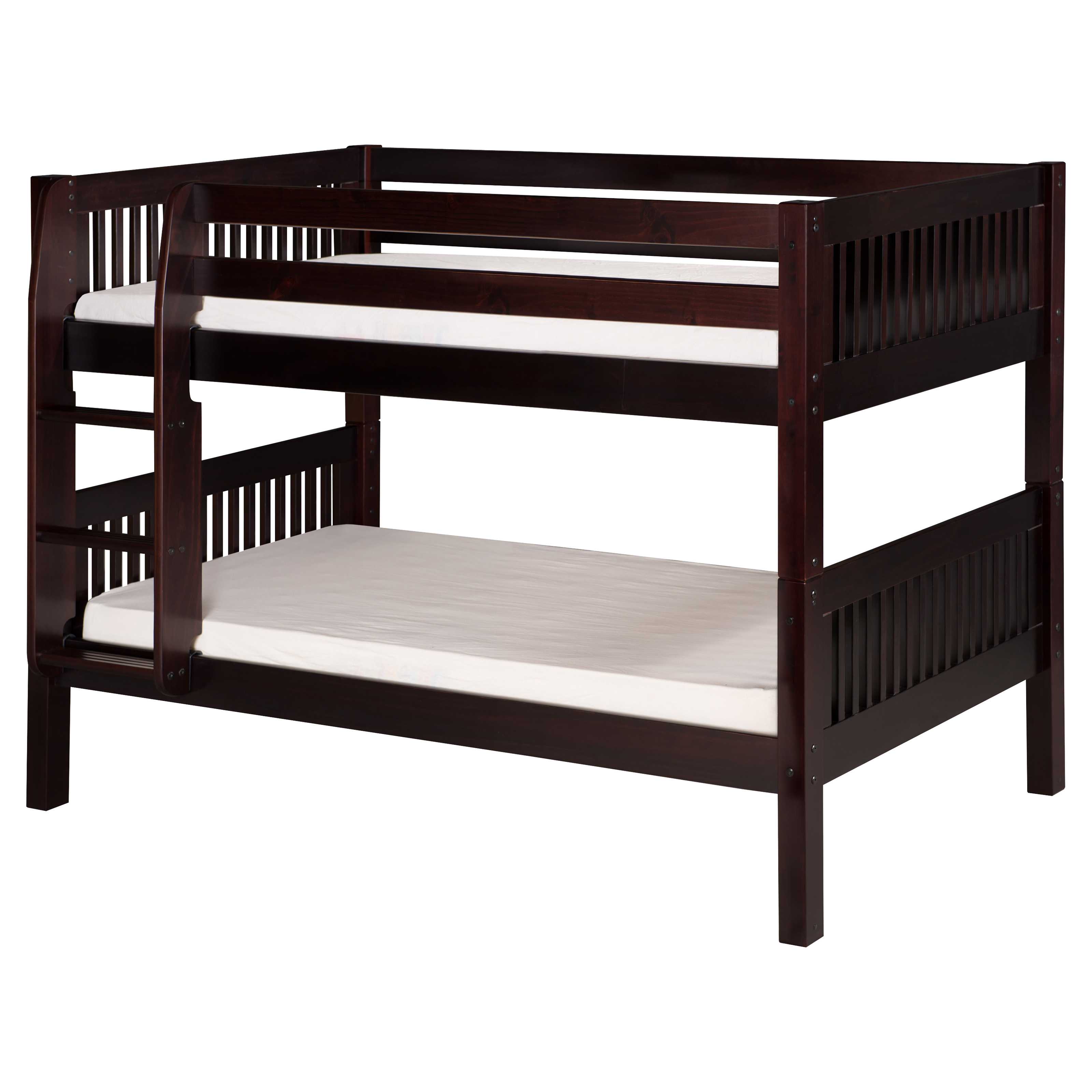 camaflexi mission headboard twin over twin low bunk bed bunk beds loft beds at hayneedle. Black Bedroom Furniture Sets. Home Design Ideas