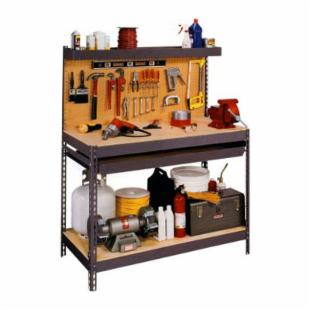 Edsal 4 ft. Steel Workbench with Pegboard