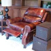Hemingway 2-Piece Set Top Grain Leather Reclining Chairs in Redwood