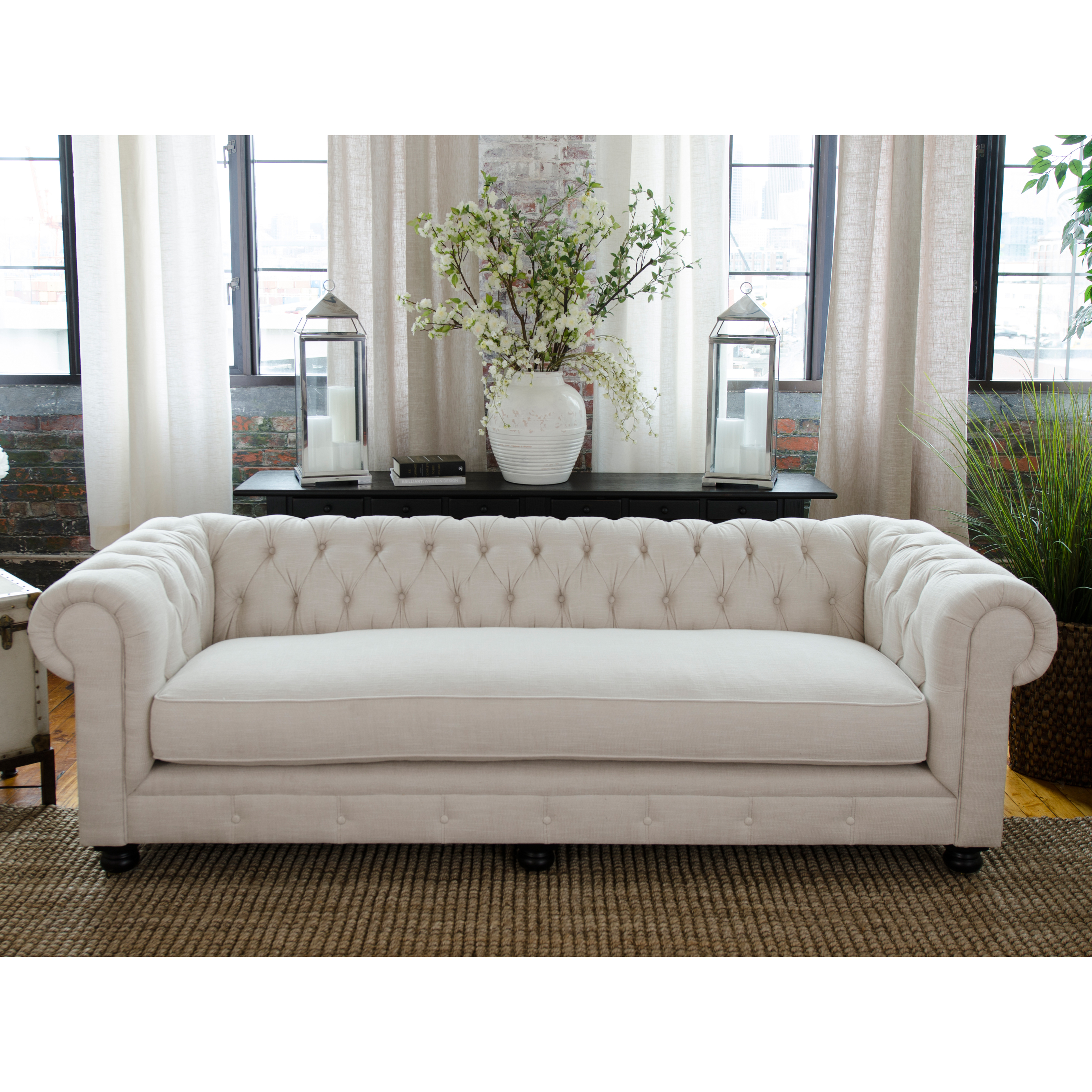 Fabric Furniture: Elements Fine Home Estate Fabric Sofa
