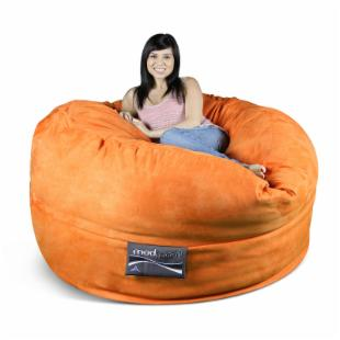 5 ft. Mod Pod Micro Suede Bean Bag Suede