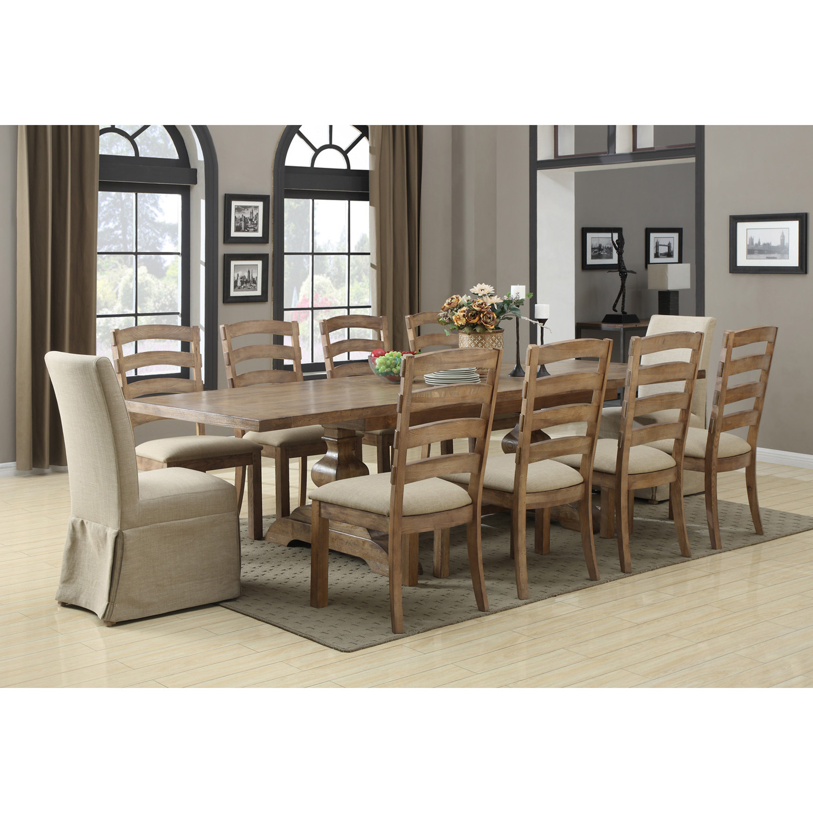 Emerald home belair 11 piece dining table set at hayneedle for 11 piece dining table set