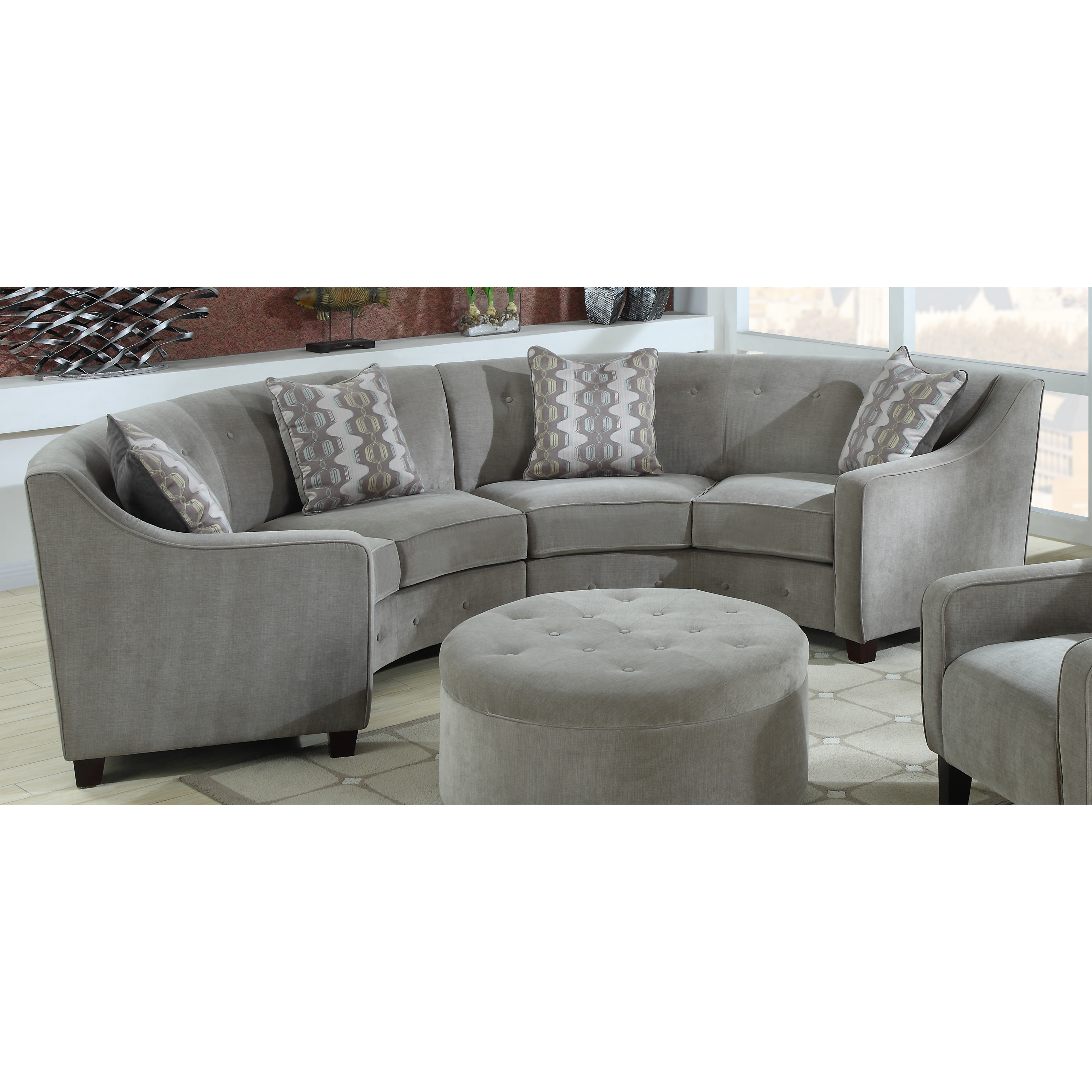 Emerald Home Channing Sectional Tranquil Silver At Hayneedle