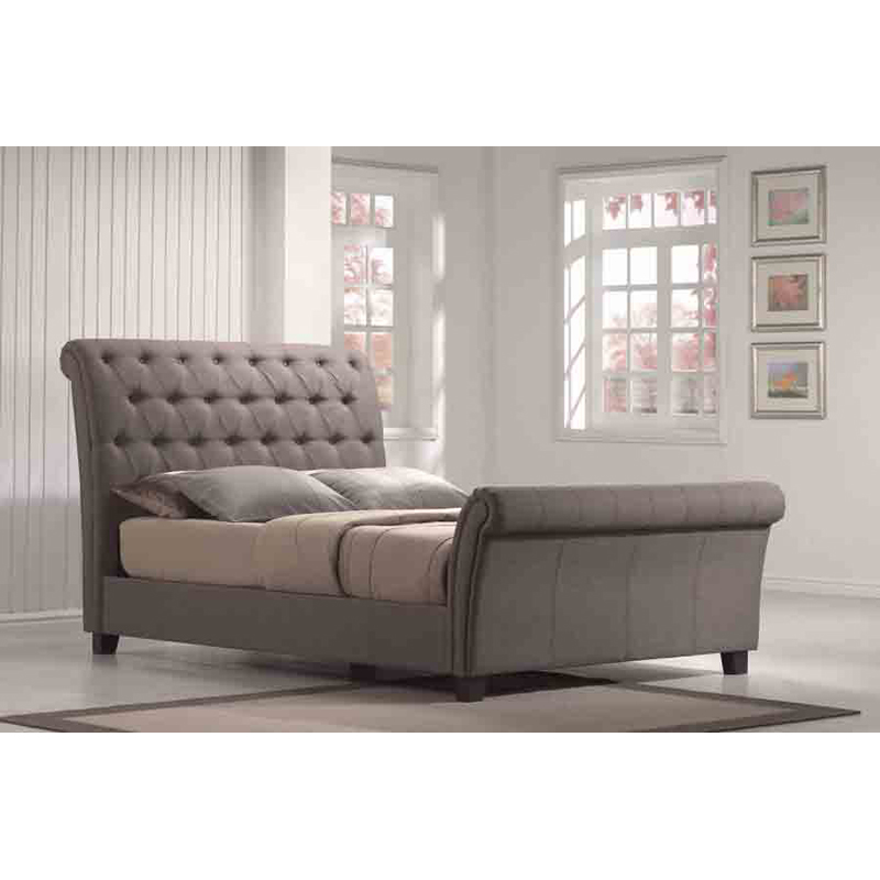 Emerald Home Innsbruck Upholstered Sleigh Bed Beds At
