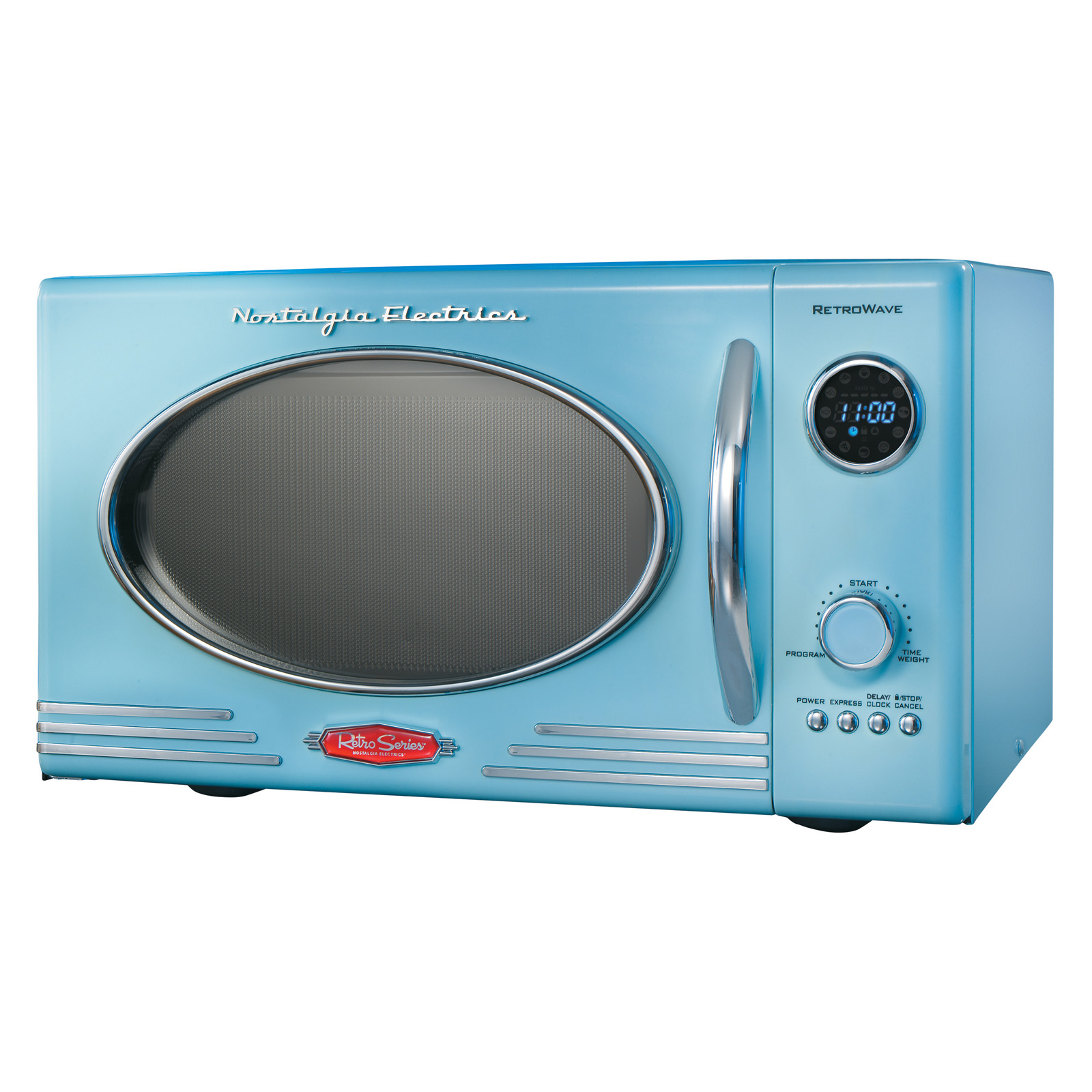 Baby Blue Microwave Oven: Nostalgia Electrics RMO-400BLUE Retro Series 0.9-Cubic