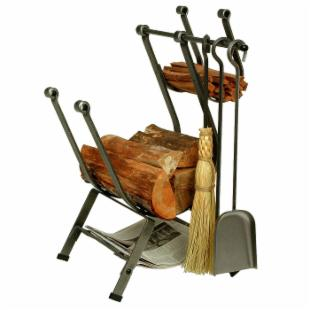 Enclume Design Front-loading Log Rack with Tools