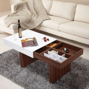 Luxer Coffee Table with Sliding Top and Storage Compartments