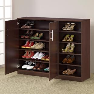 Grande Multi-Purpose & Shoe Cabinet - Walnut