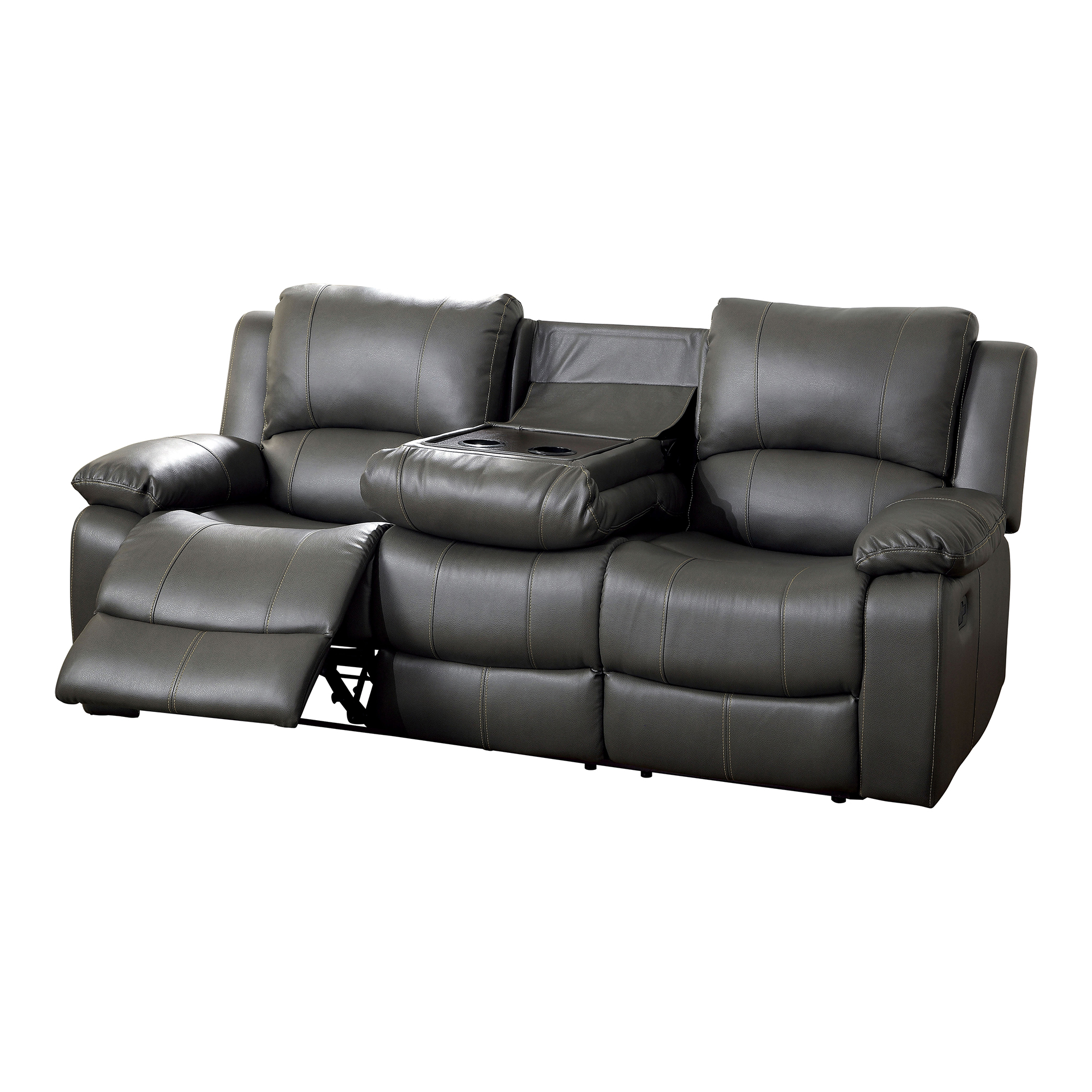 Furniture of America Rathbone Recliner Sofa with Cup  : masterENLB2071 from www.hayneedle.com size 3200 x 3200 jpeg 1195kB