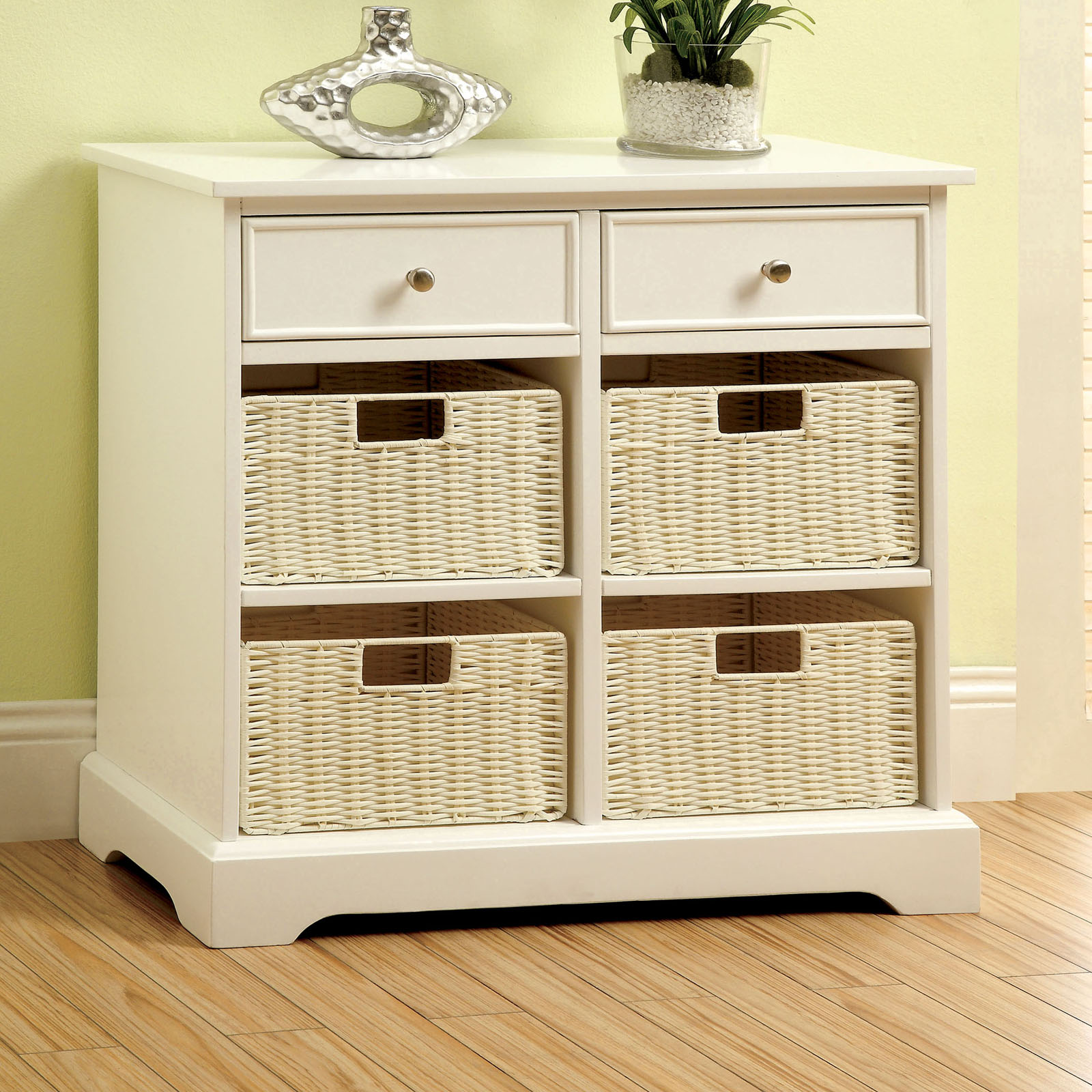 Furniture of america renoir multi storage cabinet console white console tables at hayneedle - Sofa table with cabinets ...