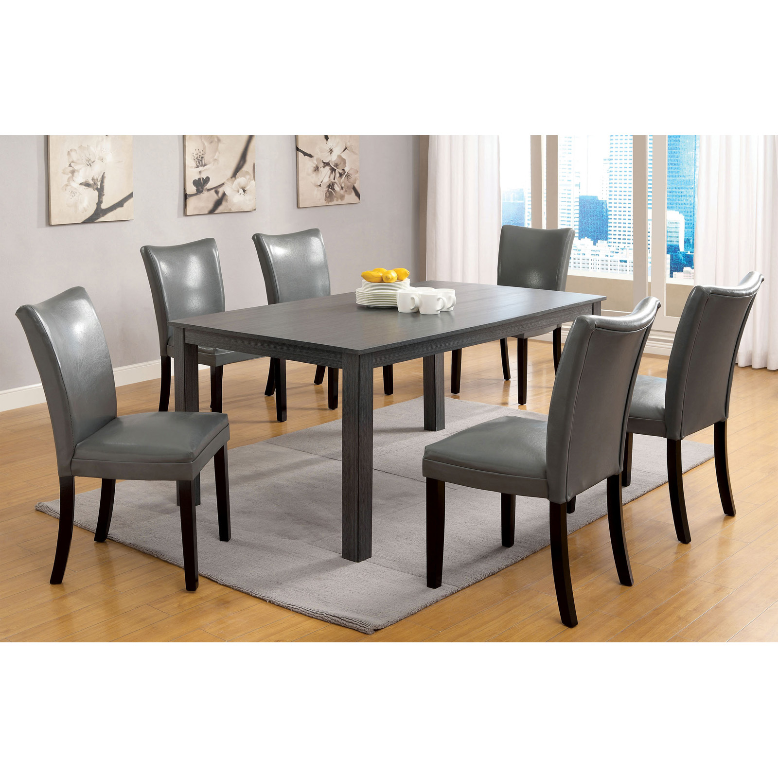 Furniture Of America Brenton 7 Piece Dining Table Set