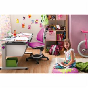 Moll Champion Kids Adjustable Desk Chair in Magenta