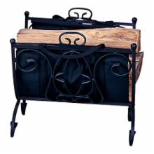 Uniflame Alder Peak Black Wrought Iron Log Holder