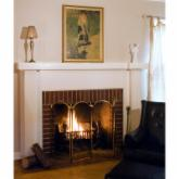  Uniflame 4 Panel Brass Filigree Fireplace Screen