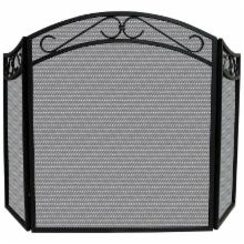  Uniflame 3 Panel Arch Top Scrolls Fireplace Screen