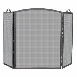 UniFlame 3 Panel Olde World Arch Top Fireplace Screen