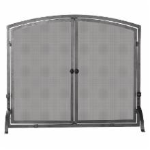 Uniflame Single Panel Iron Fireplace Screen with Doors