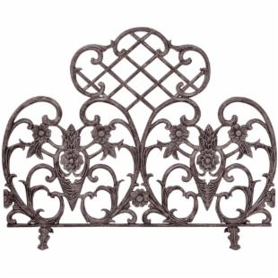 Single Panel Bronze Finish Cast Aluminum Screen