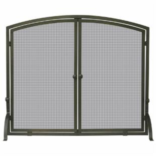Single Panel Bronze Finish Screen with Doors