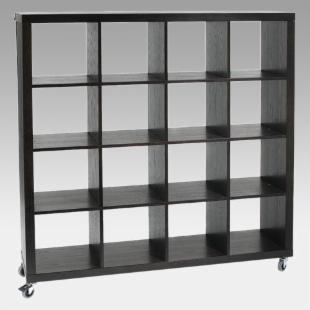 Euro Style Samba 4 x 4 Wood Storage Bookcase - Wenge