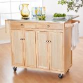 The Milano Portable Kitchen Island with Optional Stools