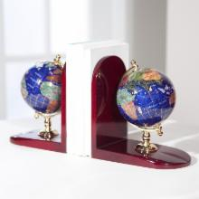  Gemstone Globe Bookends
