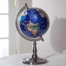  Hamilton Lapis 9-inch Diam. Tabletop Globe with Single Stand