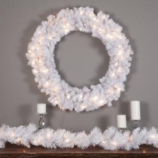 36 in. Winter Park Pre-lit Wreath