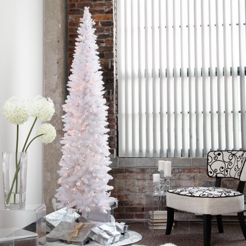 9 ft. Winter Park prelit Pencil Christmas Tree Clear