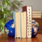  Blue Lapis Gemstone Globe Bookend - 6-in. Diameter