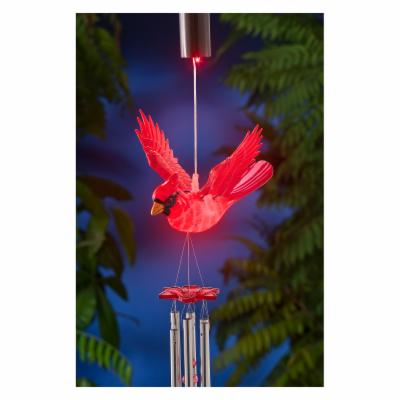 Exhart Anywhere Lights WindyWings Cardinal Wind Chime