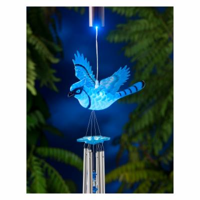 Exhart Anywhere Lights WindyWings BlueJay Wind Chime