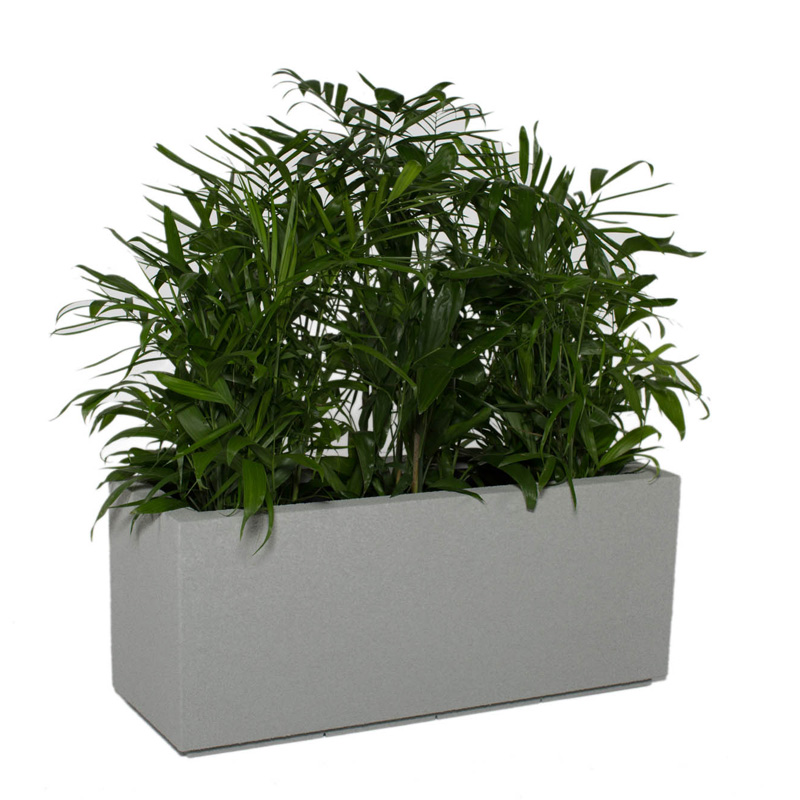 Poly stone milan tall trough 4 ft outdoor planter for Garden planters