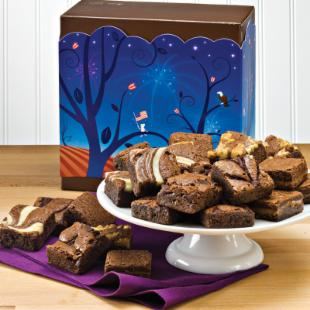 Fairytale Brownies Patriotic Morsel 24 Brownie Gift Box